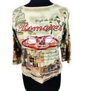 Take Two Romance 3/4 sleeve blouse